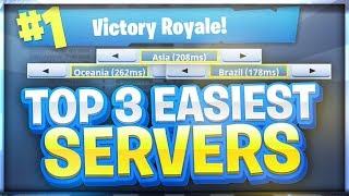 EASIEST SERVERS TO GET WINS ON - FORTNITE BATTLE ROYALE