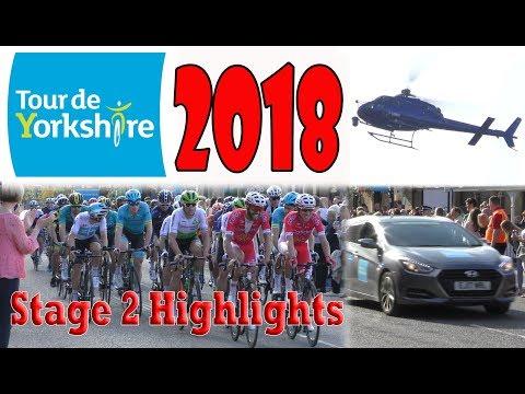 Tour De Yorkshire 2018 - Stage 2 Highlights | 4K HD