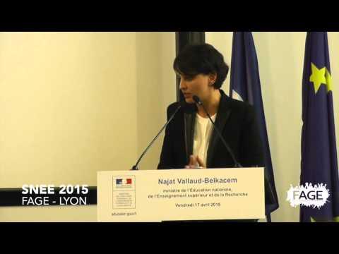 Discours de la ministre Najat Vallaud Belkacem SNEE FAGE