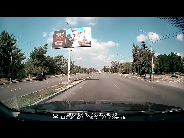 Видеорегистратор зеркало Phisung E08 - образец видео