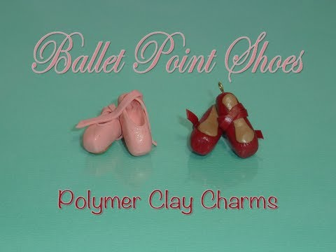 Ballet Pointe Shoes Polymer Clay Charm