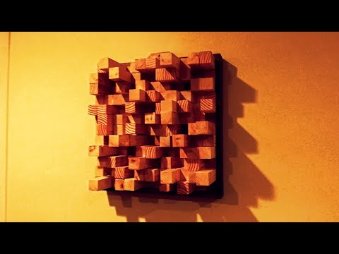 Making a low cost reclaimed wood skyline diffuser for the studio