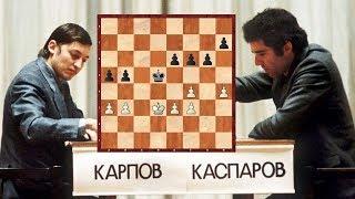 Шахматы. Карпов - Каспаров: цейтнотные тонкости пешечного окончания!