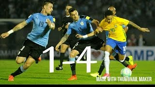 URUGUAY VS BRAZIL 1 - 4 WORLD CUP 2018 QUALIFYING - SOUTH AMERICA 24 MARCH 2017