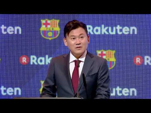 FC Barcelona's main global sponsor speech by Hiroshi Mikitani, Chairman and CEO of Rakuten, Inc.