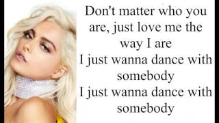 Bebe Rexha ft Lil Wayne The way I are Dance with somebody Lyrics +Pictures