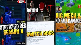 *NEW* Fortnite: STRETCHED Resolution Tutorial, MECH Damage Bug/No Fall Damage, IT Collab & CUBE SOON