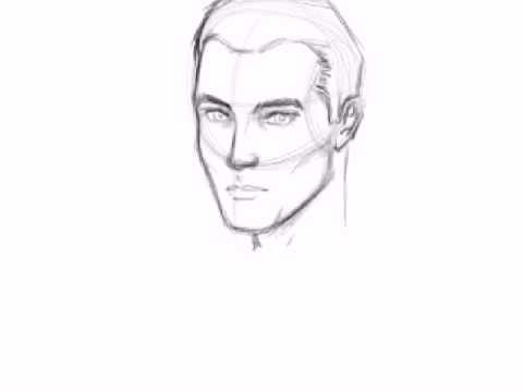 mans face drawing how to draw a male face youtube 2023