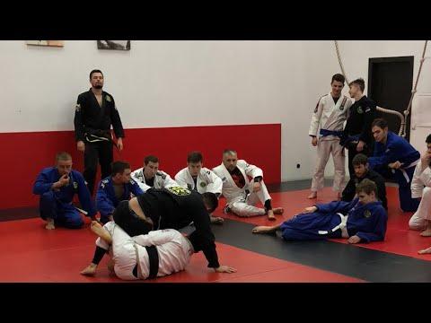 Kristian Cestaro teaching in Titan BJJ academy (Russia)