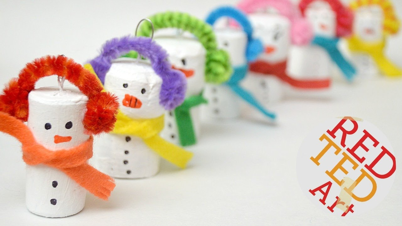 Easy Snowman Ornament Diy Diy Christmas Ornaments Recycled Diys