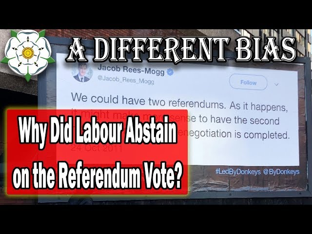Why Did Labour Abstain on Referendum Vote?