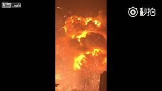 Взрыв склада в Китае