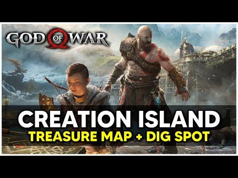 God Of War - Creation Island Treasure Map + Dig Spot Locations