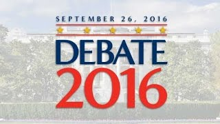 Replay: First Presidential Debate Live Donald Trump vs Hillary Clinton (9/26/16)