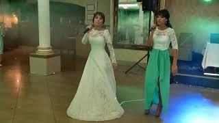 Благодарность папе от невесты и её сестры. Песня на свадьбе греков Приазовья