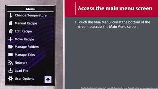 3 - How to Access the Main Menu Screen (MXP/AXP)