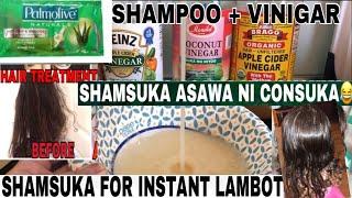 SHAMSUKA FOR INSTANT LAMBOT Shampoo+Vinigar Shamsuka asawa ni consuka Shamsuka for Hair remedy