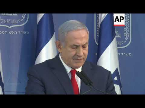Israeli PM says he'll take over temporarily as defence minister
