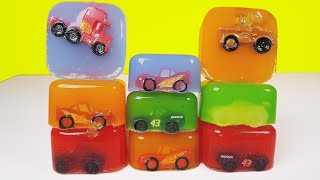 Disney Cars 3 Toys Ooshies mini racers go into colored jelly