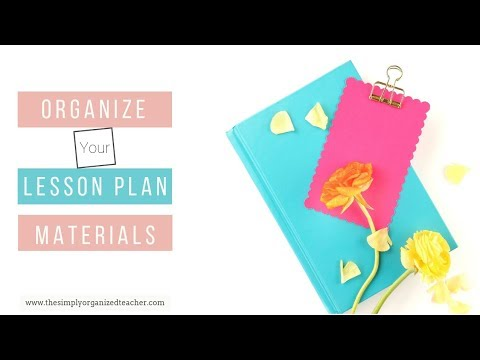 Lesson Plan Material Drawers Organization