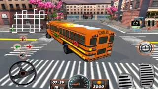 High School Bus Driving 3D - New Android Gameplay HD