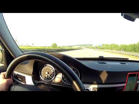 BMW e90 330i VMAX - GPS 280 km/h (175 mph) on German Autobahn