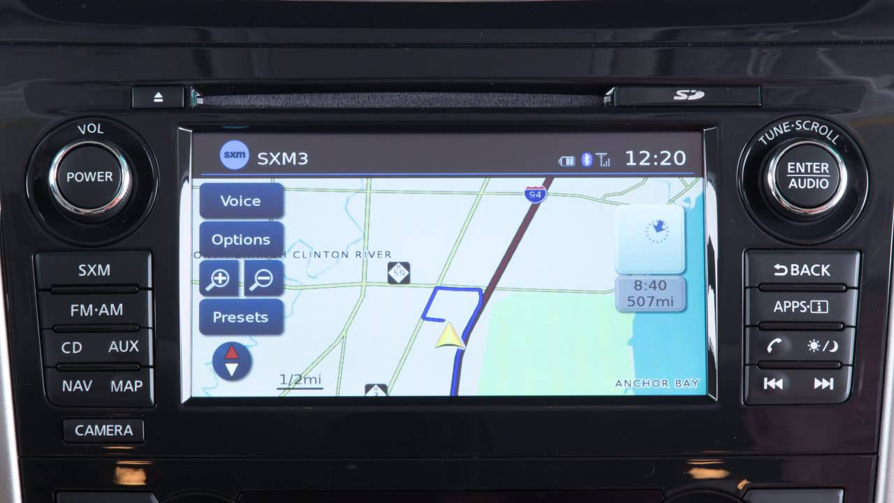 2015 Nissan Altima - Map Button (if so equipped)