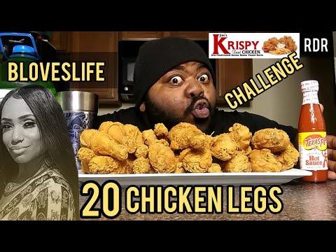 Blovelifes 20 CHICKEN LEGS CHALLENGE!!!!!