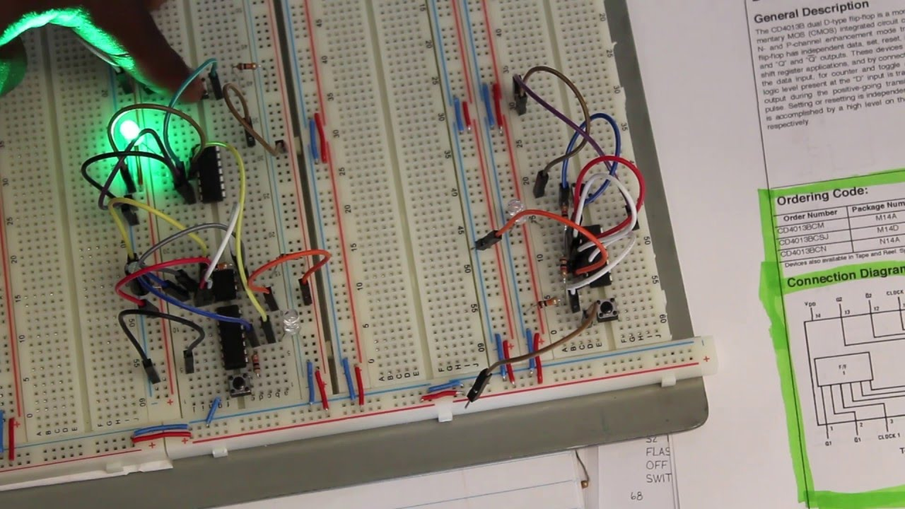 Flip Flop Data Storage Circuit 8 Bit Cpu Project Youtube Flipflop Where Reset Happens With Sr Electrical