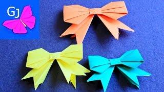 самый простой оригами бантик из бумаги