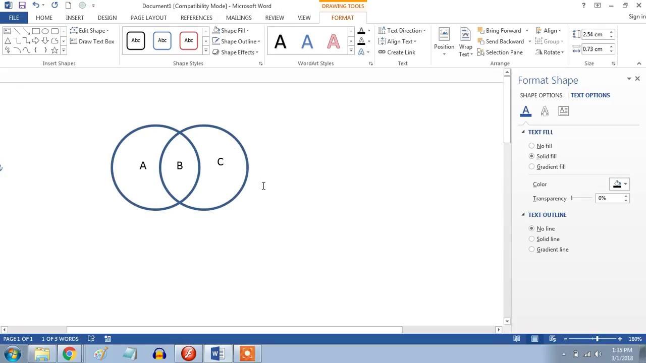 Cara Membuat Diagram Venn Di Microsoft Word 2013 Youtube