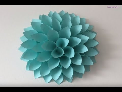 Origami Big paper flowers DIY – Giant flowers DIY – Wall decor – Paper Crafts Art