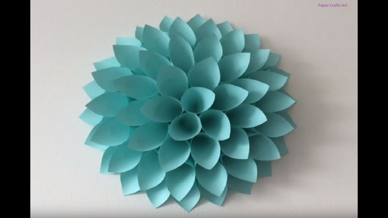 Origami Big Paper Flowers Diy Giant Flowers Diy Wall Decor Paper Crafts Art
