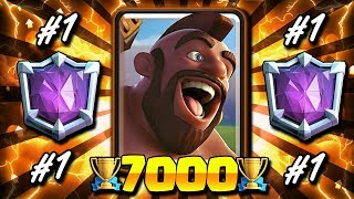 #1 BEST HOG CYCLE DECK IN CLASH ROYALE!! NEW TROPHY RECORD!! RTUC#4