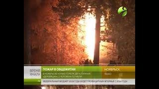 Ночью в Ноябрьске горел жилой дом. Есть погибшие (фото, видео)
