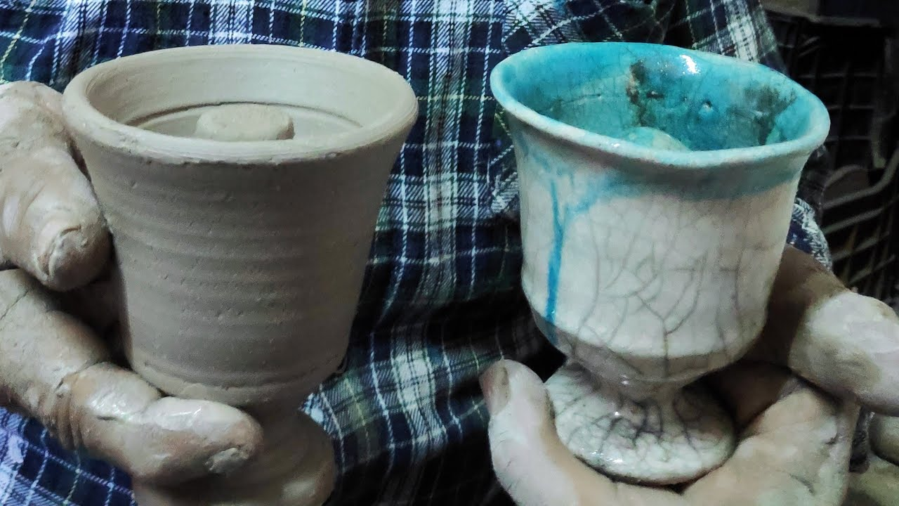 Pythagoras cup - making a Pythagoras cup on the pottery wheel