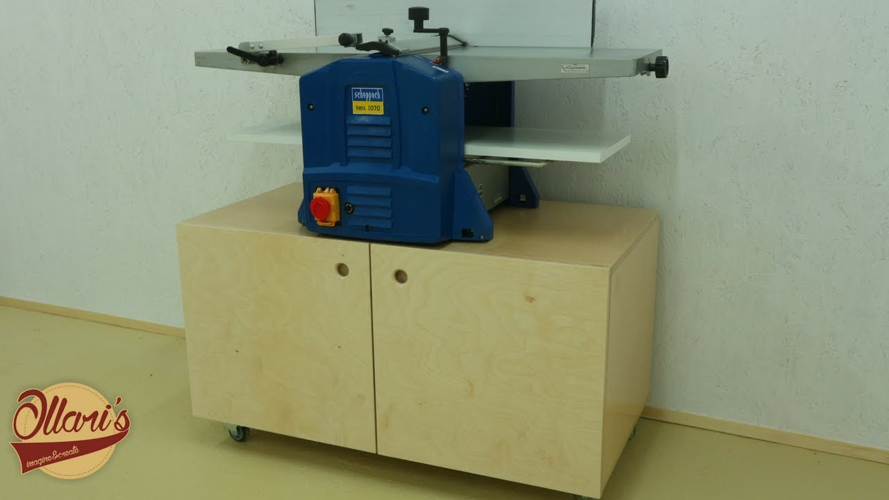 Mobile Shop Cabinet for my Jointer - Planer combination machine ...