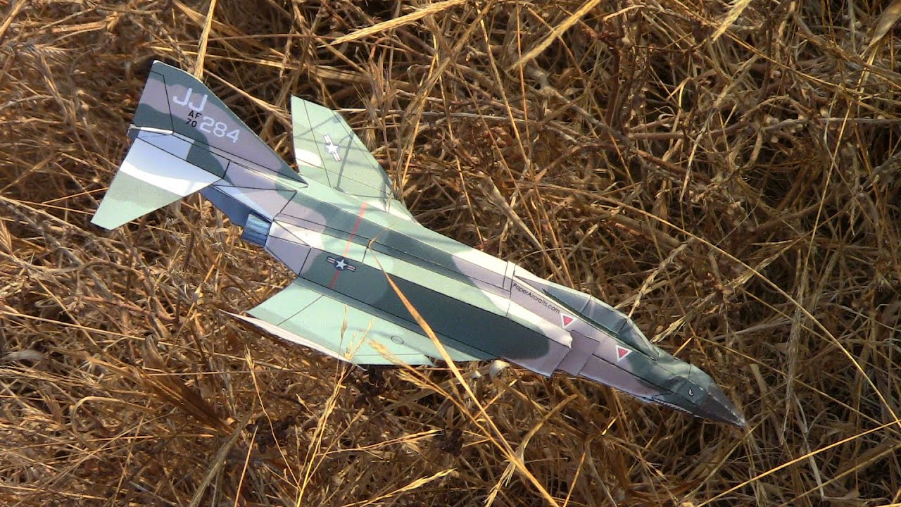 Papercraft F-4 Paper Airplane 3D model