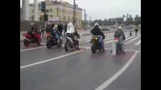 Кортеж сопровождение Свадьба на мото/ wedding motorcyclists