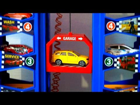 Мультик про машинки. Парковка для игрушечных машинок. Видео для детей