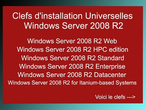 Universal Serial Windows Server 2008 R2 - Clef licence Windows server 2008  R2 - Activation key crack