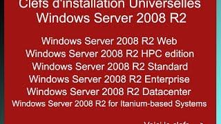 Universal Serial Windows Server 2008 R2 - Clef licence Windows server 2008 R2 - Activation key crack