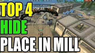 TOP 4 HIDE PALCE IN MILL || FREE FIRE HIDE PLACE IN MILL|| Run gaming