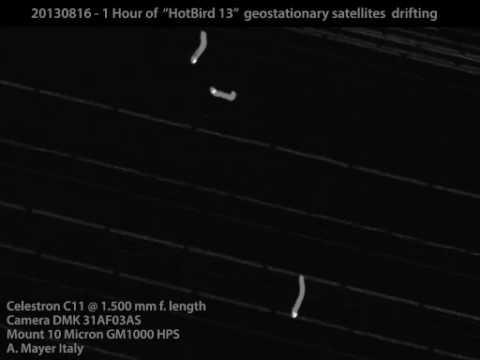 Hotbird 13 Geostationary  satellite drifting