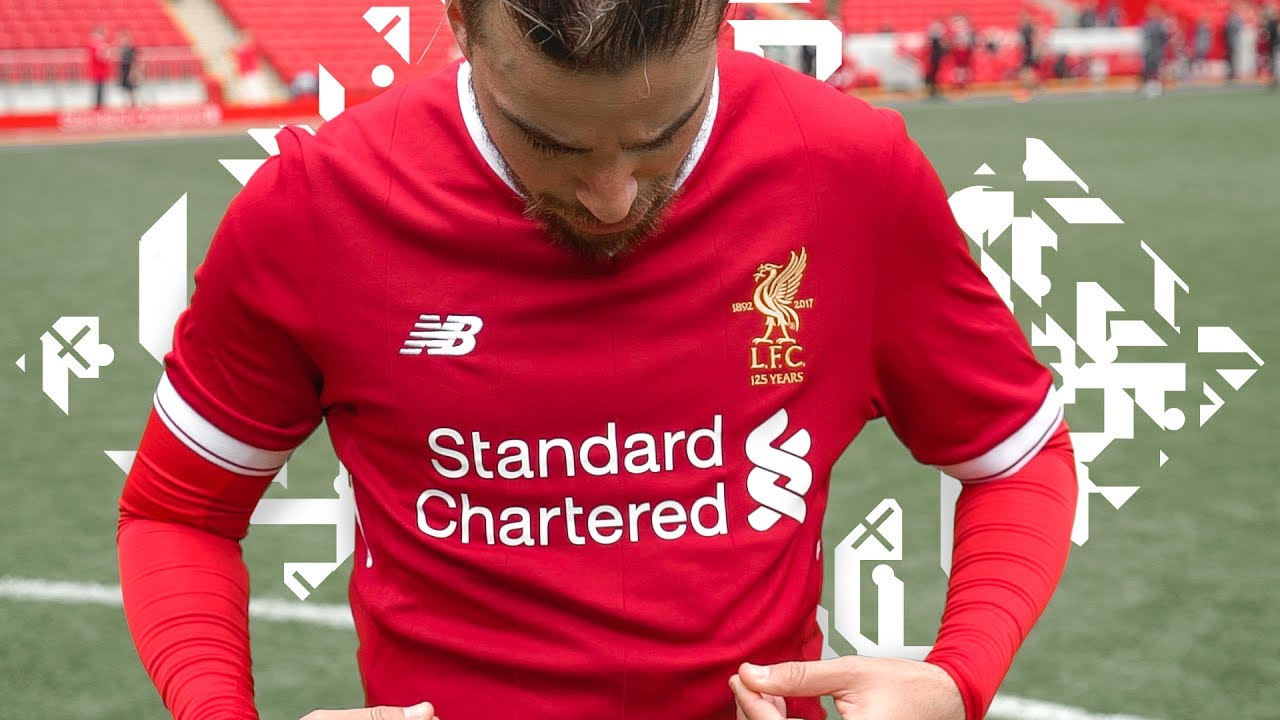 ANFIELD PITCH TEST! New Liverpool 17/18 Home Kit
