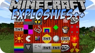 Minecraft EXPLOSIVES++ MOD (TROLL TNT, RAINBOW TNT)