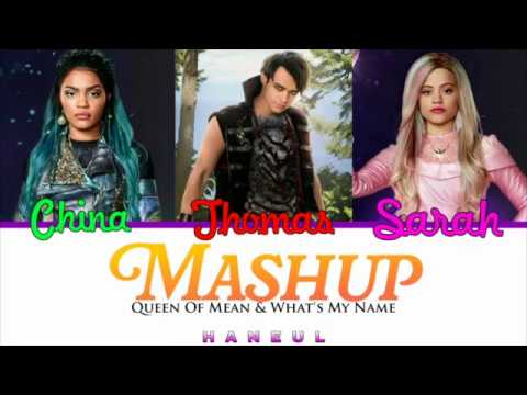 Descendants Cast - Mashup (Queen Of Mean & What's My Name) Color Coded Lyrics