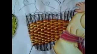 Cesta indígena – Pintura em tecido