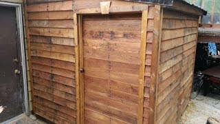 Finished Pallet Shed From Free Materials #6