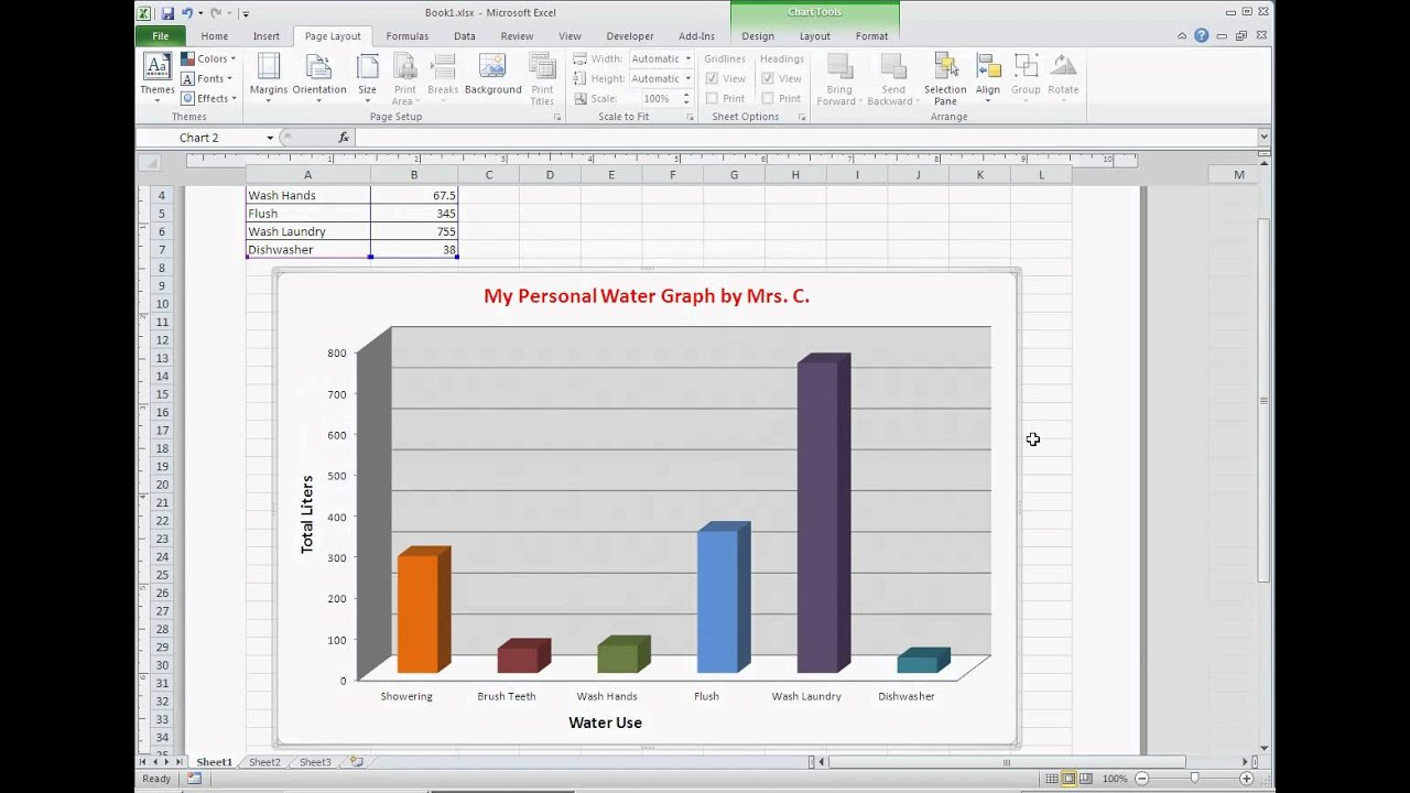 Excel Graph Printing